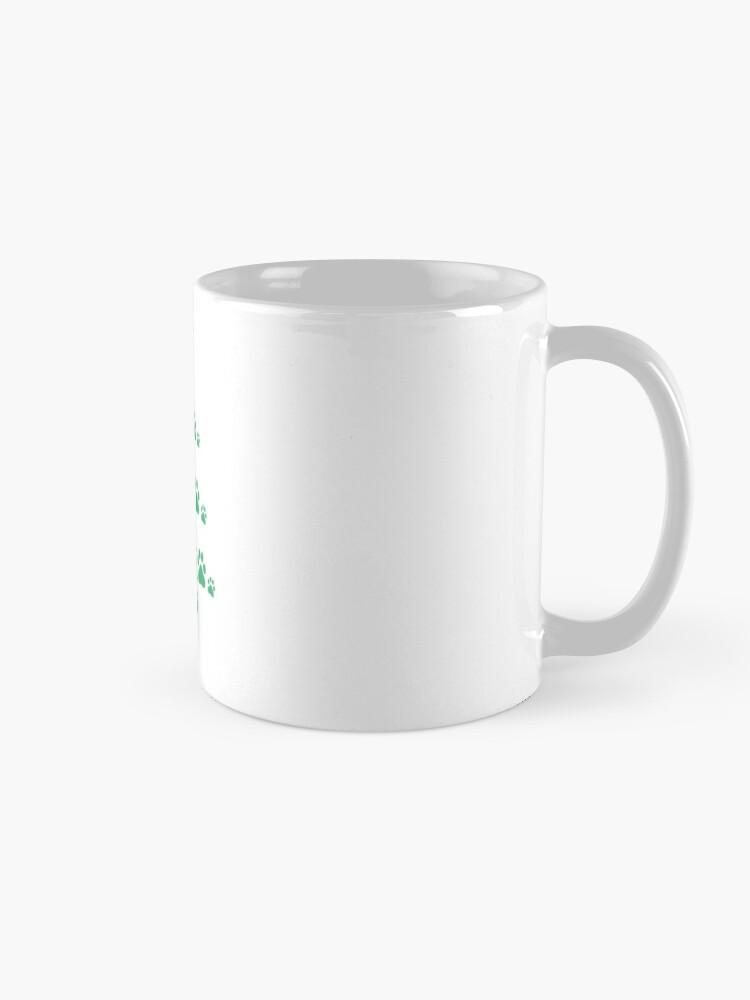 Alternate view of Super Cute Dog Paws Print Christmas Tree T-Shirt Mug