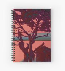 Wood in Sunset Spiral Notebook