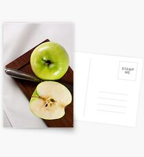 Green Apple and Knife Postcards