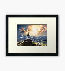 Legend of Zelda : Breath of the Wild artwork Framed Print