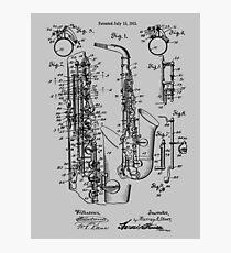 Patent Print Jazz Saxophone 1915 Photographic Print