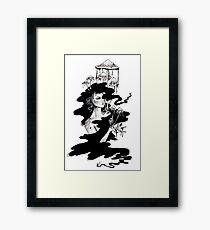 Ink Cap Mushroom Framed Print