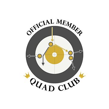 "The ""Quad Club"" - Black Text by itscurling"
