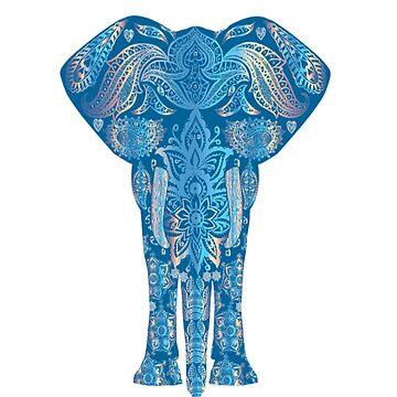 Ethnic tribal yoga elephant zen meditation  by Discofunkster