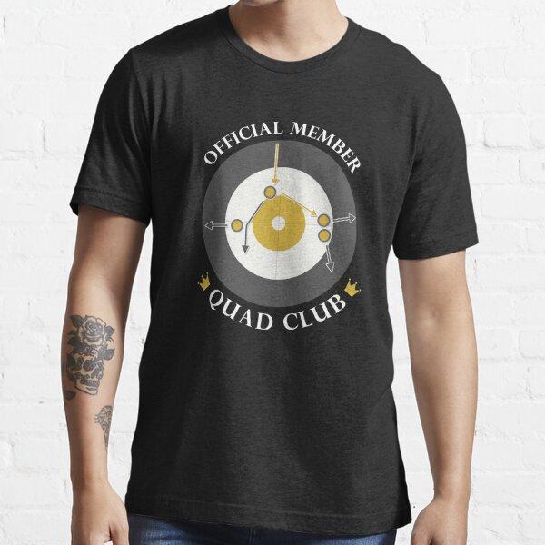 """The """"Quad Club"""" - White Text Essential T-Shirt"""