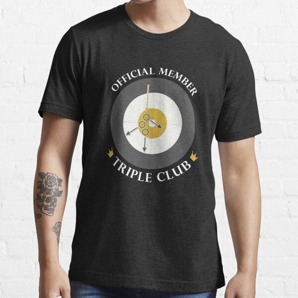 "The ""Triple Club"" - White Text Essential T-Shirt"