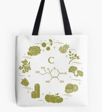 Foods rich in vitamin C. Tote Bag