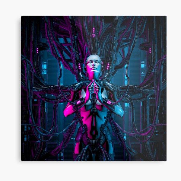 The Quantum Zen Queen Metal Print