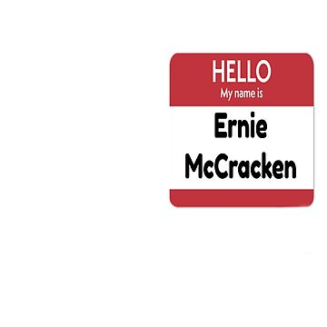 Funny Ernie McCracken bowling name badge  by Discofunkster