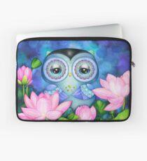 Owl in Lotus Pond Laptop Sleeve