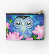 Owl in Lotus Pond Studio Pouch