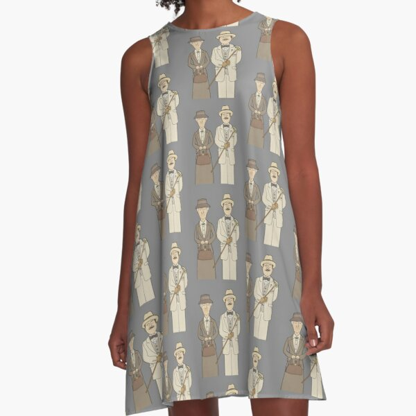 Marple and Poirot A-Line Dress