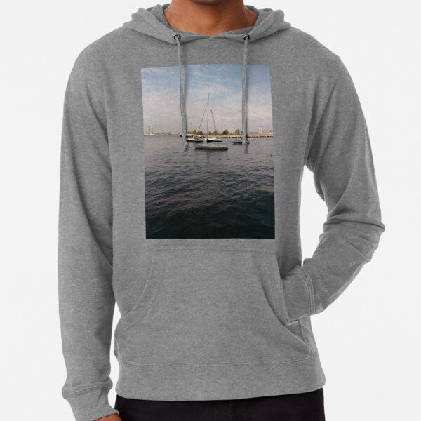 #boat, #yacht, #water, #boats, #ship, #marina, #sky, #harbor, #port, #sailboat, #sailing, #blue, #harbour, #sail, #vessel, #nautical, #travel, #summer, #yachts, #dock, #coast, #pier Lightweight Hoodie