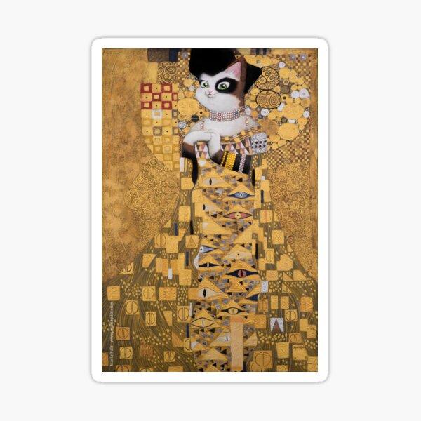 #meowdernart - The Portrait of Adele Bloch-Meower Sticker
