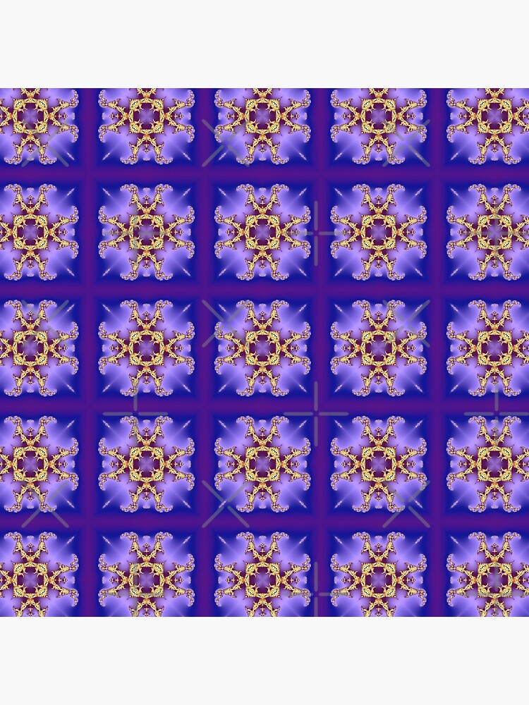 Kaleidoscopic Purple Pattern by nadyanadya