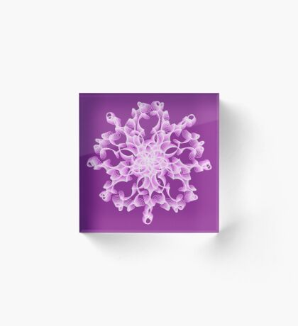 Abstract flower in lilac Acrylic Block
