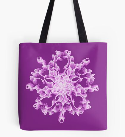 Abstract flower in lilac Tote Bag