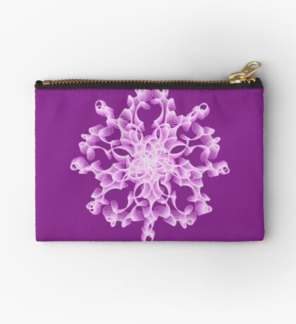 Abstract flower in lilac Zipper Pouch