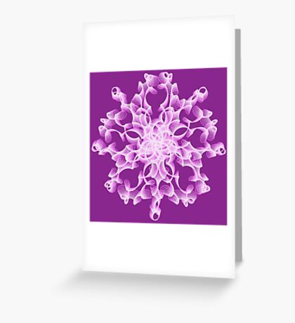 Abstract flower in lilac Greeting Card