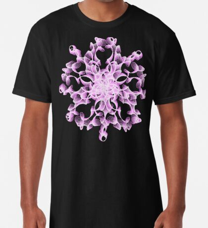 Abstract flower in lilac Long T-Shirt