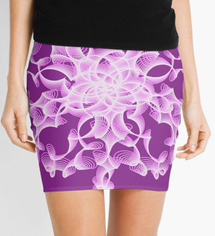 Abstract flower in lilac Mini Skirt