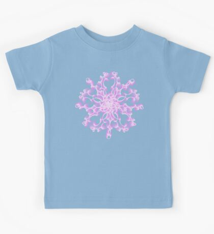 Abstract flower in lilac Kids Clothes