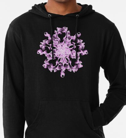 Abstract flower in lilac Lightweight Hoodie