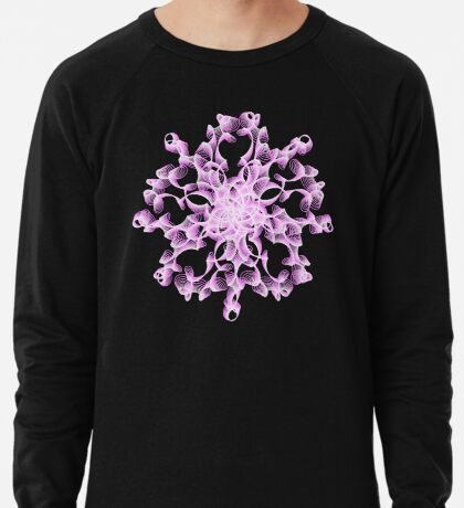 Abstract flower in lilac Lightweight Sweatshirt