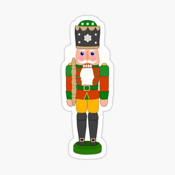 Nussknacker für den Weihnachtsmann Santa T-Shirt Sticker