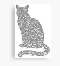Lienzo Mandala de gato gris