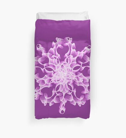 Abstract flower in lilac Duvet Cover