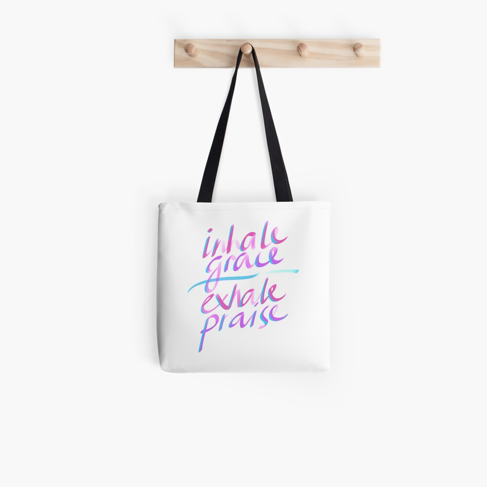 Inhale Grace Exhale Praise Christian Gift by TCC Publishing  Tote Bag