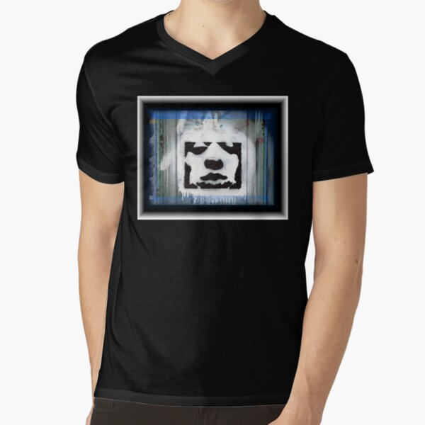 face in the city V-Neck T-Shirt