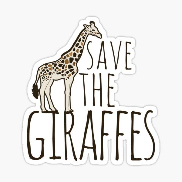 Save the Giraffes Sticker