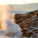 """""""Late Evening Sun and Surf at Schoodic Point' by Scott Bricker"""