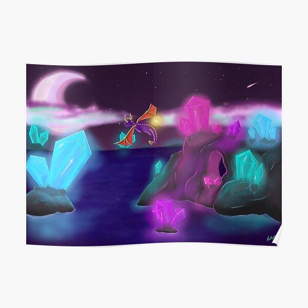 Spyro night flight Poster