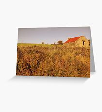 Rural Irish cabin Greeting Card