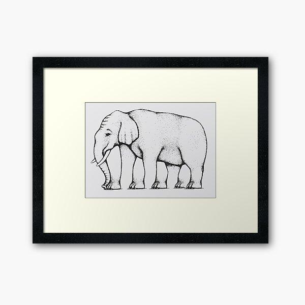Elephant - How many legs? Framed Art Print
