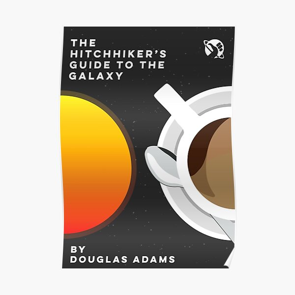 Hitchhikers Guide to the Galaxy Minimalist Poster  Poster