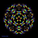 Rainbow Star Mandala by Mystikka