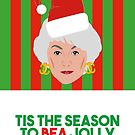 Golden Girls Dorothy Bea Arthur Christmas Card by gregs-celeb-art