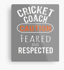 Scary Cricket Coach Gift Design Metal Print