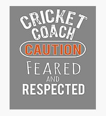 Scary Cricket Coach Gift Design Photographic Print
