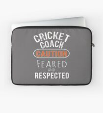 Scary Cricket Coach Gift Design Laptop Sleeve