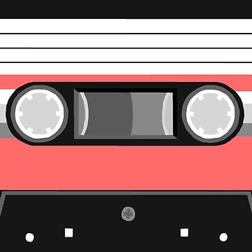 Red Cassette Tape by Rocket-To-Pluto