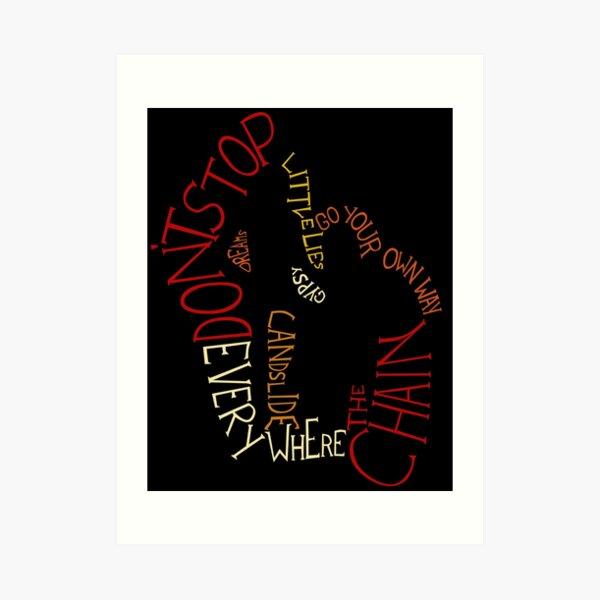 Fleetwood Mac - Songs Art Print