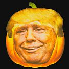 Scary Trump Face Trumpkin Pumpkin Halloween Party Design by merchhost