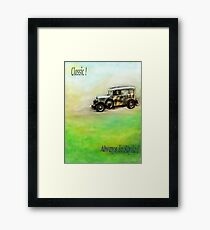 Classic ( in colors with transparency ) Framed Print
