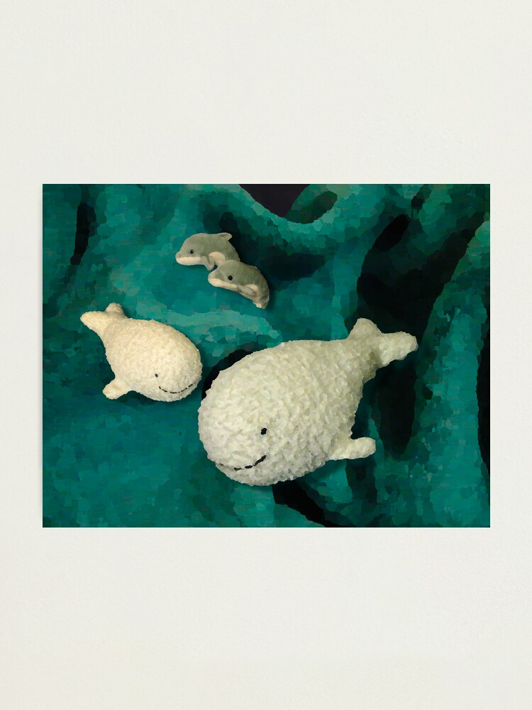 Alternate view of Meeting whales in my children's world Photographic Print