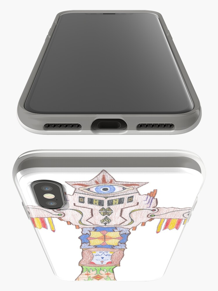 Alternate view of Merch #14 -- All-seeing Tassles Totem. iPhone Case & Cover